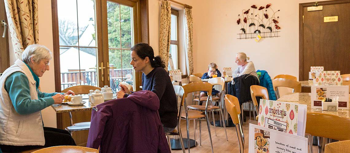 Enjoy the relaxed atmosphere in our coffee shop