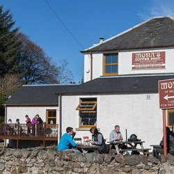 Our outdoor seating area in the picturesque village of Pool of Muckhart