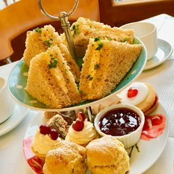 Afternoon Tea is served daily between 2-4pm at Mona's of Muckhart