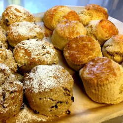 Enjoy delicious home-baked scones at Mona's of Muckhart