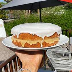 Enjoy a selection of mouth-watering, home-made cakes and desserts here at Mona's of Muckhart